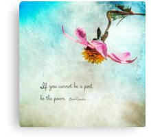 POEM Canvas Print