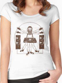 VITRUVIAN ALIEN DJ T-SHIRT #02 Women's Fitted Scoop T-Shirt
