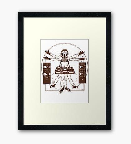 VITRUVIAN ALIEN DJ T-SHIRT #02 Framed Print