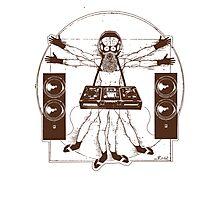 VITRUVIAN ALIEN DJ T-SHIRT #02 Photographic Print