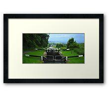 Caen Hill Locks Framed Print