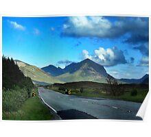 Mountainous Background  Poster