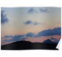 sunset at the desert Poster