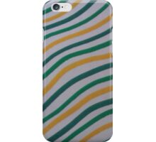 Green & Yellow Stripey  iPhone Case/Skin