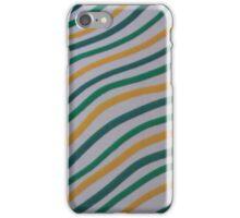 Green & Yellow Stripey  iPhone Case/Skin