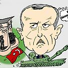 PM turc Erdogan Carictaure Politique by Binary-Options