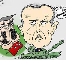 PM turc Erdogan Carictaure Politique by Binary-Options
