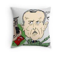 PM turc Erdogan Carictaure Politique Throw Pillow
