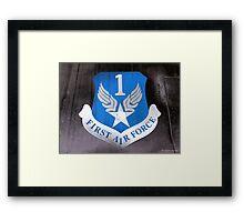 First Air Force Crest  Framed Print