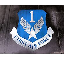 First Air Force Crest  Photographic Print