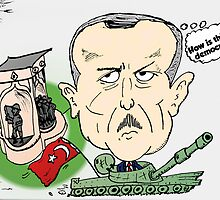 Turkish PM Erdogan Editorial Carictaure by Binary-Options