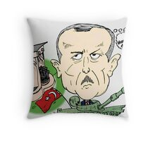 Turkish PM Erdogan Editorial Carictaure Throw Pillow
