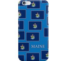 Smartphone Case - State Flag of Maine - Horizontal V iPhone Case/Skin