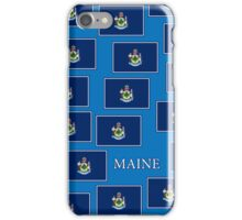 Smartphone Case - State Flag of Maine - Horizontal V iPhone Case/Skin