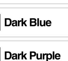 Brick Sorting Labels: Dark Turquoise, Dark Azure, Dark Blue, Dark Purple, Dark Pink Sticker