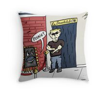 Intel Outside of the Smart Device Club Cartoon Throw Pillow