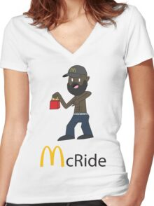 McRide Women's Fitted V-Neck T-Shirt