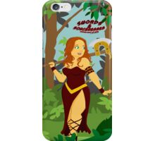 Warrior Woman in the Forest iPhone Case/Skin