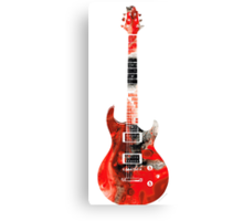 Electric Guitar - Colorful Abstract Musical Instrument by Sharon Cummings Canvas Print