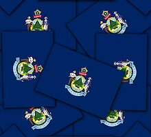 Smartphone Case - State Flag of Maine - Multiple by Mark Podger