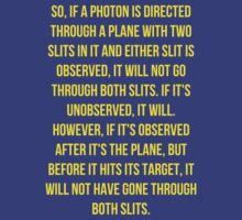 The Big Bang Theory Two Slits Quote - Yellow by Sthomas88