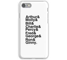 The Weasleys iPhone Case/Skin
