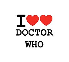 I Heart (Heart) Doctor Who by rexannakay