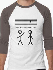 Funny Music Joke T-Shirt Men's Baseball ¾ T-Shirt