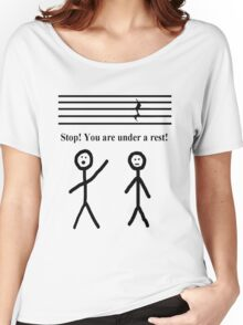 Funny Music Joke T-Shirt Women's Relaxed Fit T-Shirt