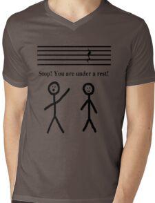 Funny Music Joke T-Shirt Mens V-Neck T-Shirt