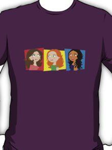 Three Girls Chatting T-Shirt