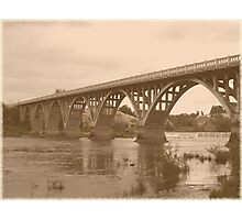 Winchester Oregon Historic Bridge (available in ipad case) Photographic Print