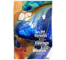 Serenity Prayer 4 - By Sharon Cummings Poster