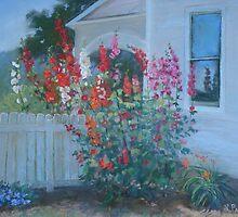 Hollyhock Corner by Linda Preece