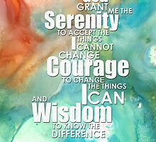 Serenity Prayer 1 - By Sharon Cummings by Sharon Cummings