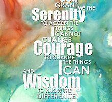 Serenity Prayer 1 - By Sharon Cummings by Sharon Cummings