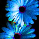 Flower Study 4 - Vibrant Blue by Sharon Cummings by Sharon Cummings