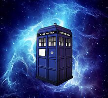 Flying Tardis Doctor Who Art Painting by neutrone