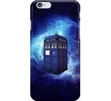 Flying Tardis Doctor Who Art Painting iPhone Case/Skin