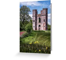 A Maiden In A Tower Sweetly Sang Greeting Card