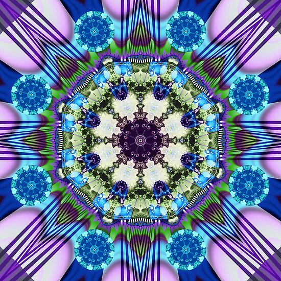 Spinning wheels kaleidoscope, fractal artwork by walstraasart
