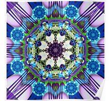 Spinning wheels kaleidoscope, fractal artwork Poster