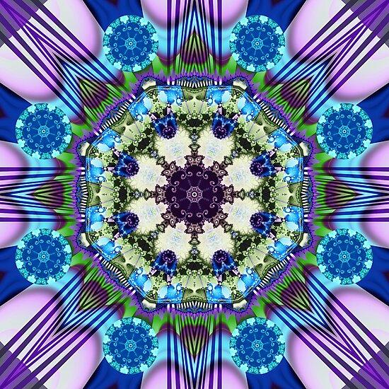 Spinning wheels kaleidoscope, fractal artwork by walstraasart