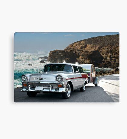 1956 Chevrolet Nomad - Summer Vacation Canvas Print