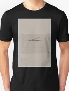 Drawing compass with fine point brush 001 Unisex T-Shirt