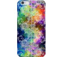 White Lace on Rainbow Tissue Paper iPhone Case/Skin
