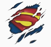 Ripped Man of Steel T-shirt by BennH