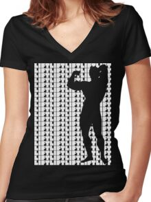 Arnold - Lift White (variation 1) Women's Fitted V-Neck T-Shirt