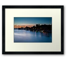 Beach bar after sunset Framed Print