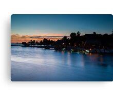 Beach bar after sunset Canvas Print